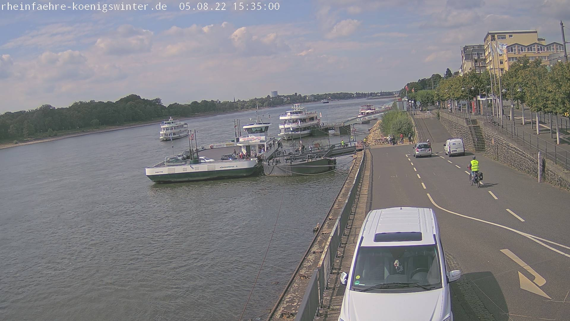 Webcam am Rheinufer in Königswinter